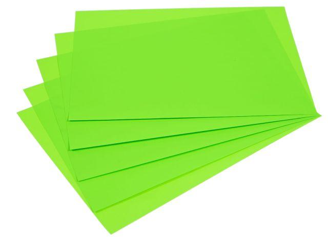 Samolepicí papír A4 - zelený fluo, 20 listů