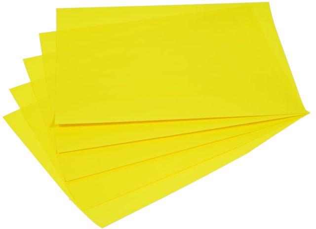 Samolepicí papír A4 - žlutý fluo, 20 listů