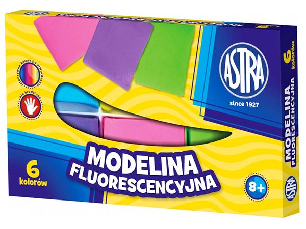 Modelovací hmota 6 barev ASTRA fluorescenční