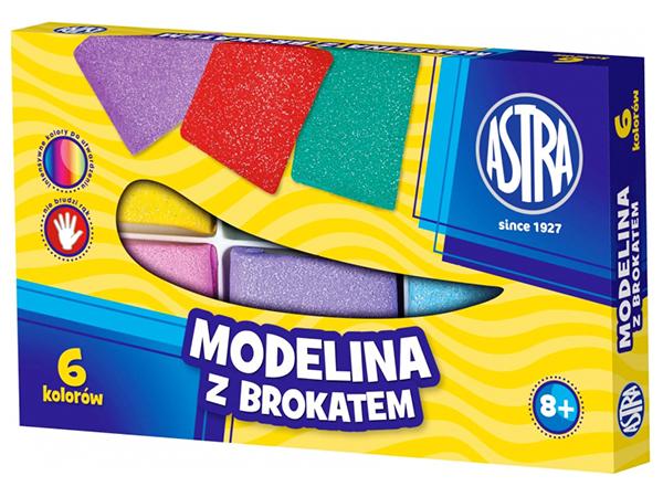 Modelovací hmota 6 barev ASTRA s glittry