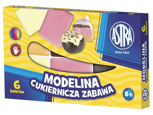 Modelovací hmota 6 barev ASTRA - cukrovinky