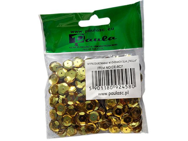 Flitry 8 mm, 12g - barva zlatá