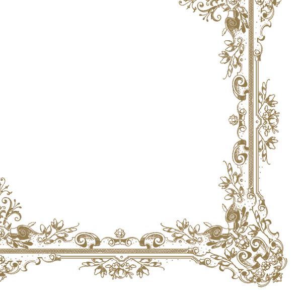 Ubrousky Maki bílé se zlatým lemem