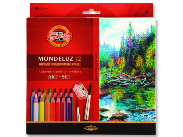 Pastelky KOH-I-NOOR Mondeluz 72 barev + štětec (3714)
