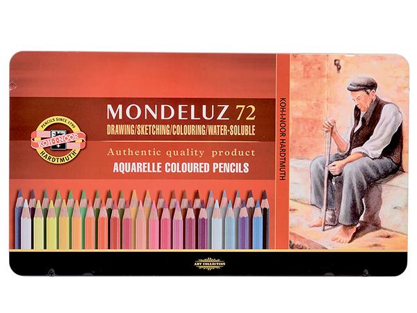 Akvarelové pastelky KOH-I-NOOR Mondeluz 72 color Pack, v plechu