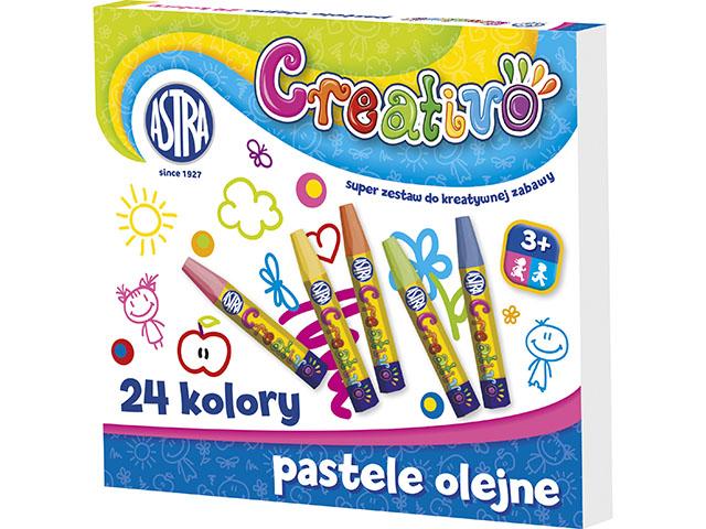 Olejové pastely ASTRA CREATIVO šestihranné - 24 barev