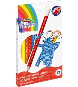 Trojhranné Jumbo pastelky Fiorello - 12 barev