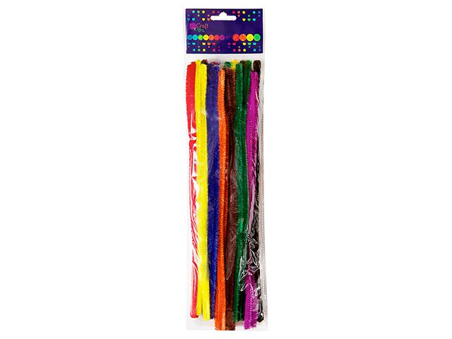 Kreativní chlupaté drátky 30 cm, 25ks - mix barev