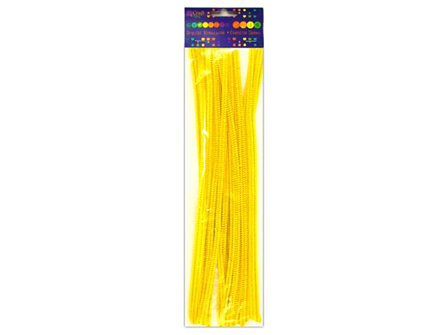 Kreativní chlupaté drátky 30 cm, 25ks - žluté
