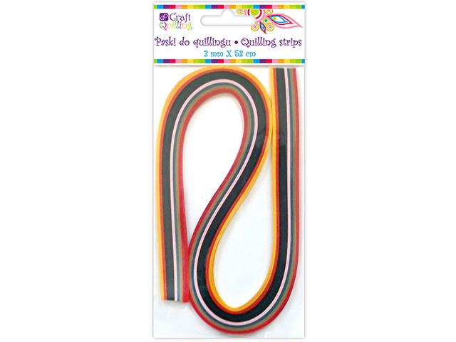 Papírové proužky na quilling 100 ks barevný mix, š. 3 mm