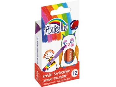 Trojhranné voskovky Jumbo Fiorello - 12 barev