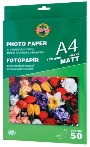 Fotografický papír A4, 50 listů, 120g - matný