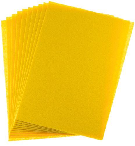 Filc žlutý A4 , síla 1 mm - balení 10 kusů