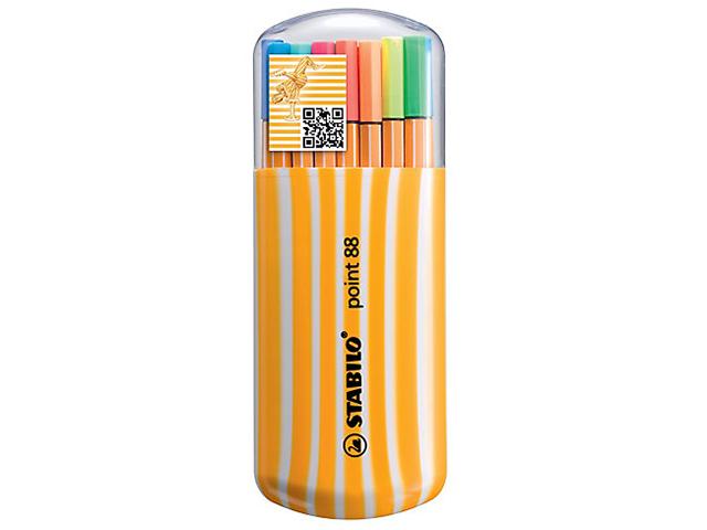 Liner STABILO Point 88 - sada 15 + 5 kusů neon