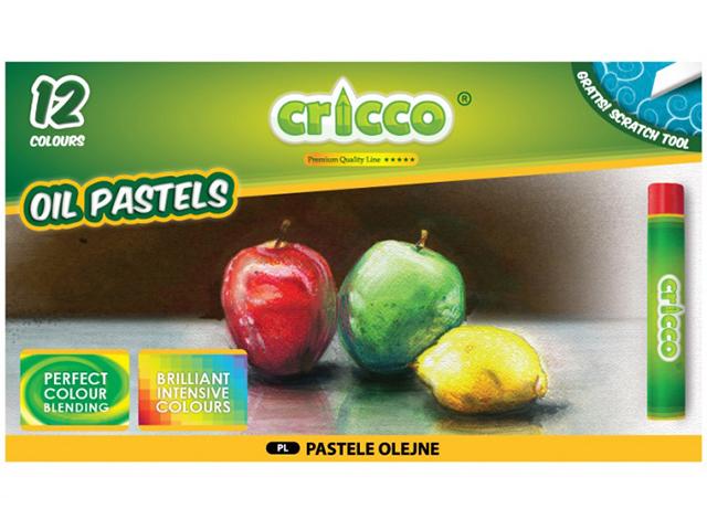 Olejové pastely CRICCO - 12 barev