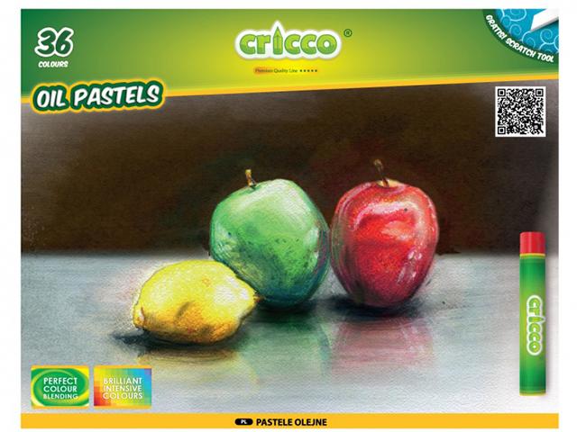 Olejové pastely CRICCO - 36 barev