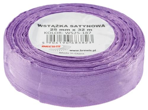 Saténová stuha 32 mm, 25 m, fialová