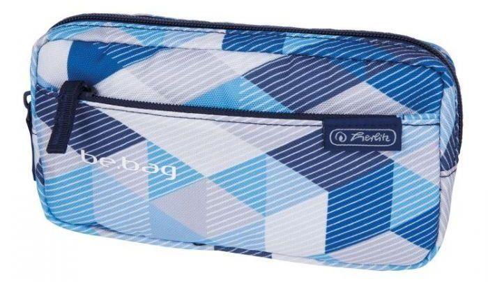 Penál Herlitz - modrý, geometrický vzor
