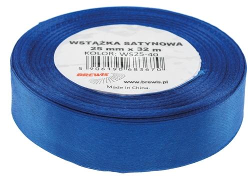 Saténová stuha 32 mm, 25 m, tmavě modrá