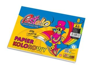 Barevné papíry A5 v bloku, Pastello
