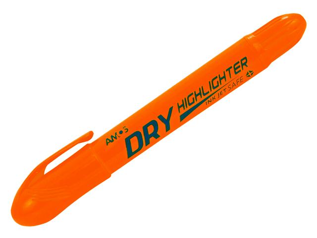 Gelový zvýrazňovač AMOS HLD12 DOR - oranžový, cena za 12 kusů