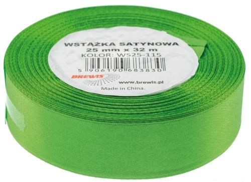 Saténová stuha 32 mm, 25 m, zelená