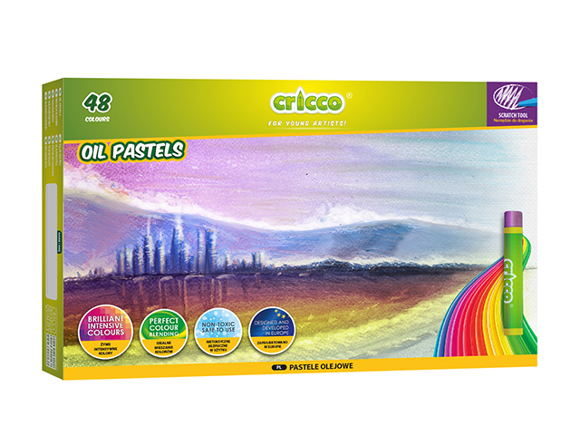 Olejové pastely CRICCO - 48 barev