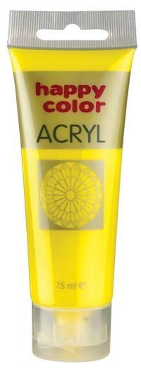 Akrylová barva Happy Color, 75 ml - žlutá