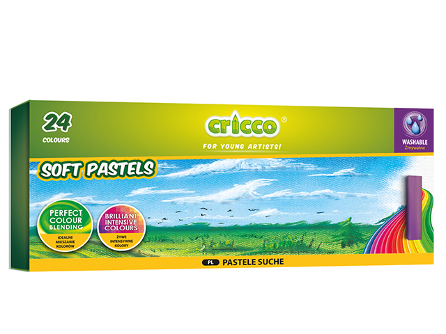 Suché pastely Cricco - 24 barev