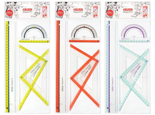 Sada geometrických pravítek Herlitz - barevné