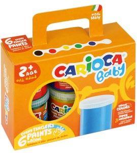 Prstové barvy Carioca - 6 kusů