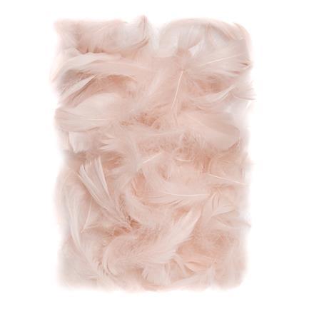 Přírodní peří DPCraft 5-12 cm, 10 g