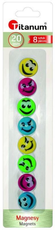 Magnety smajlíci - 8 kusů v balení