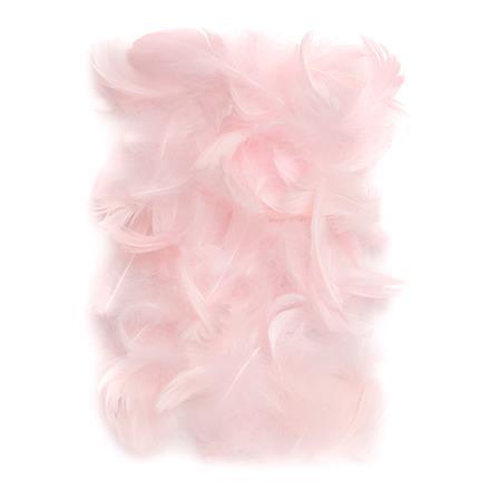 Růžové peří DPCraft 5-12 cm, 10 g