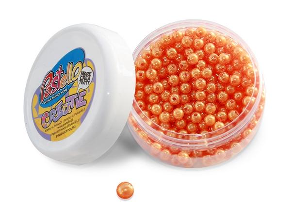 Korálky 6 mm - oranžové