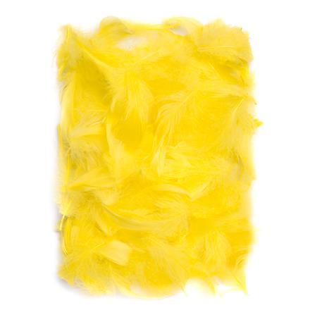 Žluté peří DPCraft 5-12 cm, 10 g