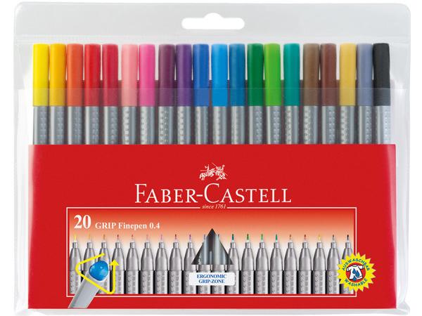 Sada popisovačů Faber Castell Grip - 10 barev