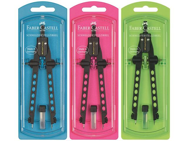 Kružítko Quick Set Factory Neon Faber Castell