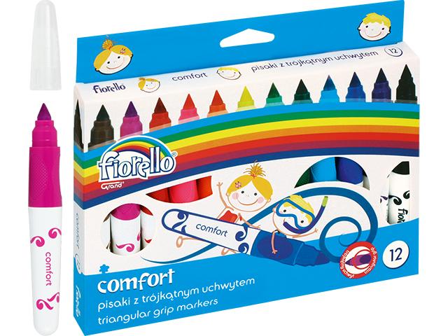 Trojhranné fixy Fiorello - 12 barev