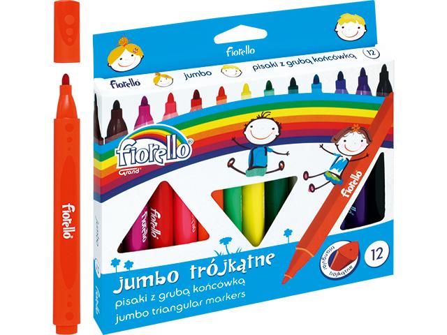 Trojhranné fixy Jumbo Fiorello - 12 barev