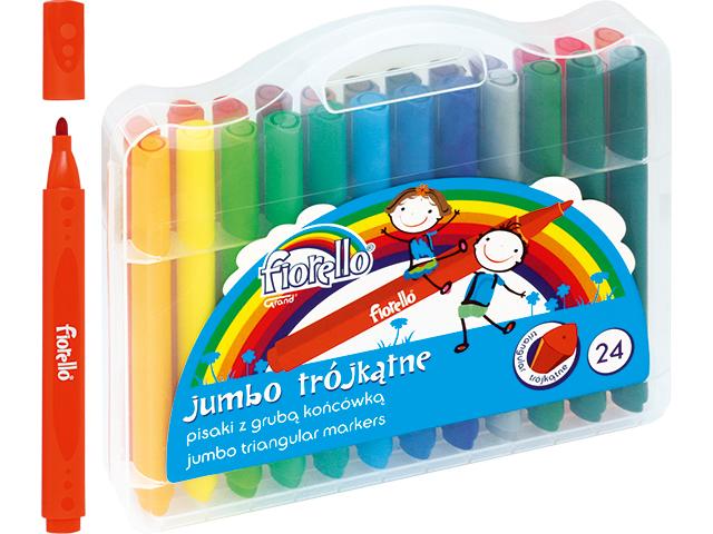 Trojhranné fixy Jumbo Fiorello - 24 barev