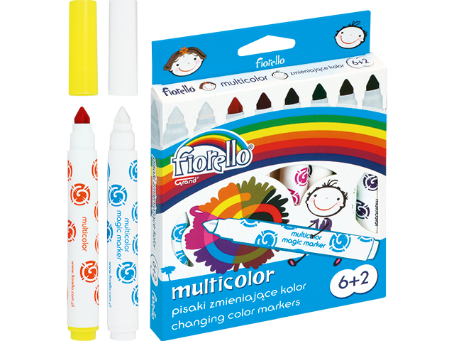 Kouzelné fixy Fiorello - 6 barev + 2 kouzelné fixy