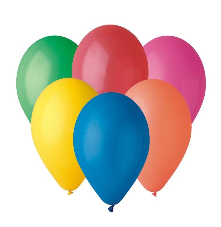 Nafukovací balónky v pastelových barvách - 50 kusů mix