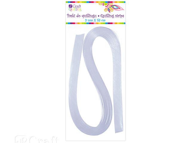 Papírové proužky na quilling 100 ks bílé, š. 3 mm