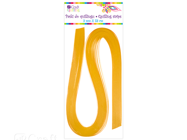 Papírové proužky na quilling 100 ks žluté, š. 3 mm