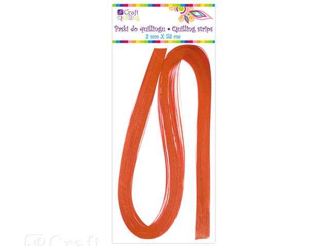 Papírové proužky na quilling 100 ks oranžové, š. 3 mm