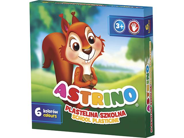 Plastelína ASTRINO - 6 barev v sadě měkká na dotek  snadné modelování  nelepí s