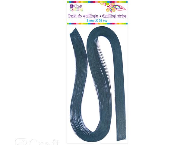 Papírové proužky na quilling 100ks modré š. 3 mm