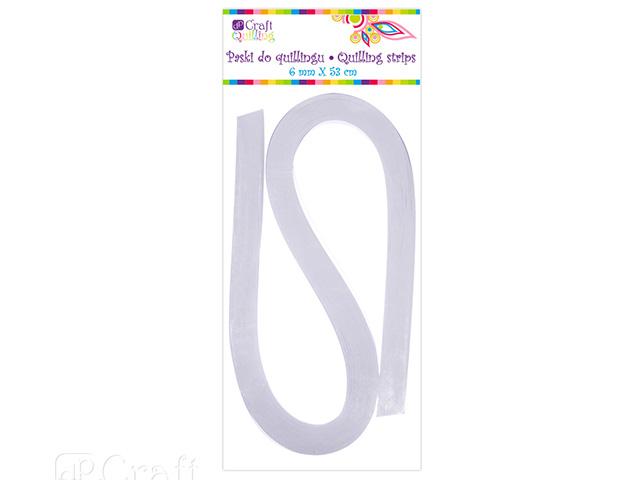 Papírové proužky na quilling 100 ks bílé, š. 6 mm