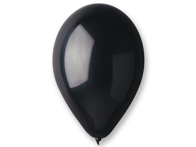 Nafukovací balónky 26cm, 100 kusů - černé